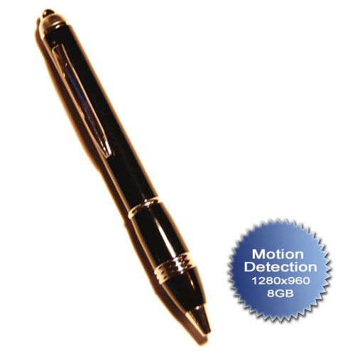 Spy Pen 8 GB con funzione Motion Detection 12802x960